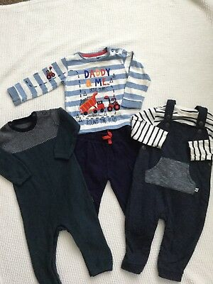 M&s, Bluezoo, George Baby Boys 12-18 Months Bundle, Outfit, Dungarees, Romper