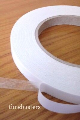 Double Sided Sticky Tape Roll Strong Adhesive Art Craft  DIY 6mm 12mm 19mm 25mm