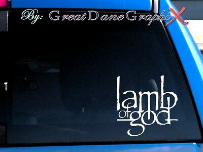 Lamb of God Vinyl Car Decal Sticker / Choose Color - HIGH QUALITY