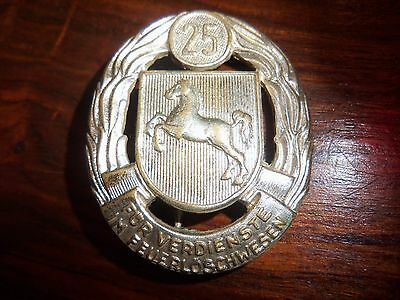 Germany Wwi Firefighting Badge German Medal Pre-Ww2 Order 25 Years
