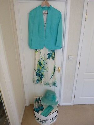 Mother Of The Bride/Groom/Ascot Outfit Size 16, includes Hat, Bag and Shoes 5