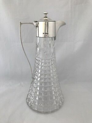 Silver Mounted Art Deco Decanter 1923 Sheffield Cooper Brothers