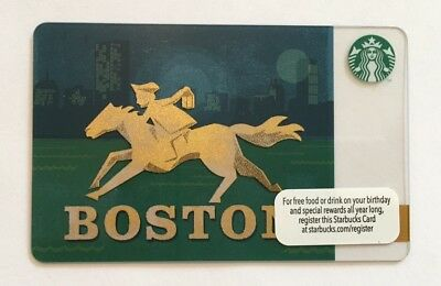 2013 Starbucks Gift Card. BOSTON. Mint. Worldwide shipping.