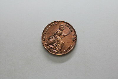 Uk Gb Farthing 1847 Victoria A83 #803