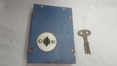 Vintage Used Folger Adam Prison Jail Lock Cell With Key made in  Joliet. IL