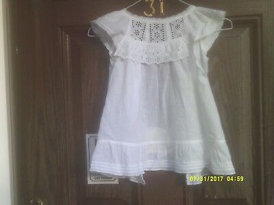 Victorian Edwardian Baby's Over Smock Gown Used Need Of Repair Tlc