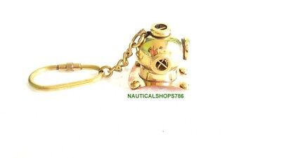 Nautical Brass Diving Helmet Key Chain Collectible Key Ring