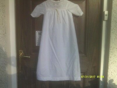 (3) Antique Edwardian Victorian Baby Gown & Trimmed With Hand Made Lace Used
