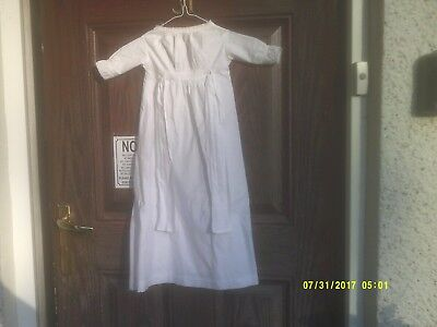 (5) Antique Edwardian Victorian Baby Gown & Trimmed With Hand Made Lace Used