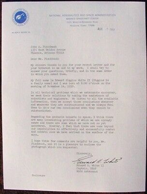 Astronaut Edward H. White II SIGNED 1964 NASA Letter RP  w/ Incredible Content