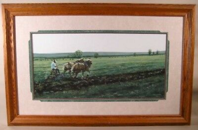 One of a Kind - ORIGINAL Art Painting by Jeanne Rager - Old Plow Scene w/ Horse