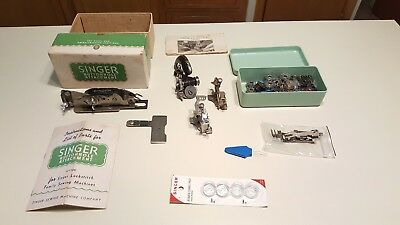 Junk Drawer: Sewing Items: Singer Buttonhole Maker, various attachments, bobbins