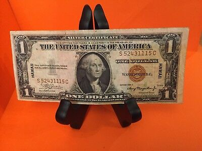 $1 1935 A HAWAII Silver Certificate WWII American US Currency Vintage Money Bill