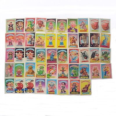 Lot of 48 Topps Garbage Pail Kids Sticker Card 1985 1986 Series 2 3 4 5