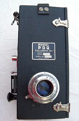 Mandel PDQ. 1950s Street photographer's 'Instant' image kit Incredibly complete.