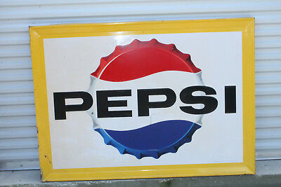 Vintage Large Pepsi Cola Sign Bottle Cap 42'' x 58''