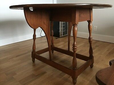 L. Hitchcock Solid Oak Dining Table Stencil Folding Dining Table Butterfly Table