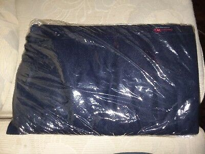 Black throw Blanket for Northwest Airlines - new, sealed in bag