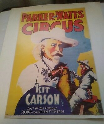 1930's Kit Carson Last of the Famous scouts and Indian Fighters Picture