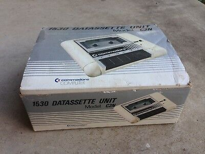 Vintage Commodore Computer C64 1530 Datassette Unit Model C2N Box And Manual