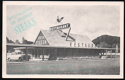Green Pigeon Restaurant Pigeon Forge, Tennessee 1934 Adversiting Photo/Postcard