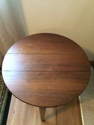 Vintage Round Folding Round Side Table