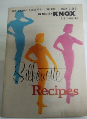 1957 Knox Gel-Cookery Silhouette Recipes Low Cal Desserts, Salads, Main Dishes