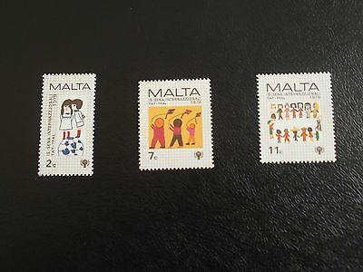 Malta Stamps 1979 - Year Of The Child - Set Of Three - Mint Never Hinged