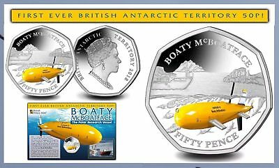 2018 50P COIN BOATY McBOATFACE UNCIRCULATED FIFTY PENCE LIMITED EDITION BOAT @