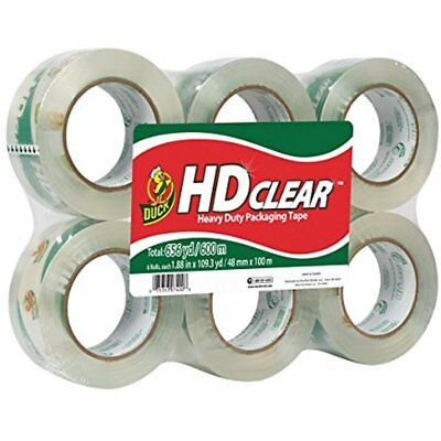HD Electronics Features Clear Heavy Duty Packaging Tape Refill, 6 Rolls, 1.88 X