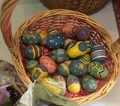 Wooden Hand-painted Eggs