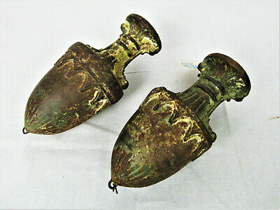 Rare Pair 18th Century Lead Chandelier Pulls Weights