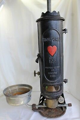 Holyoke Antique Cast Iron Hot Water Heater, Model 100 with Burner, Copper Coils