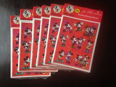 Hallmark Disney Mickey & Co Stickers In Original Plastic 6 Packs With 4 Sheets