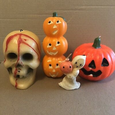 Vintage Halloween Candles Lot