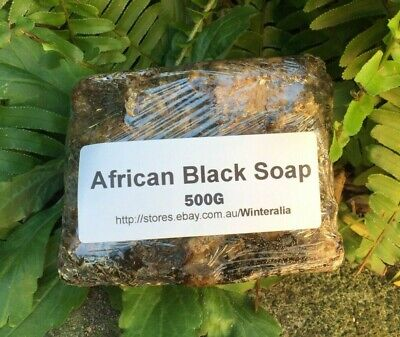 Natural Raw African Black Soap - Organic -Premium Quality From Ghana Choose size