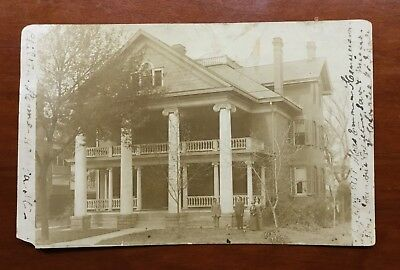CHILTON HOME VA. St., Charleston, WV, 1914 rppc, Prominent Home of Newspaper Ed
