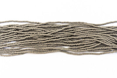 11/0 Matte Opaque Grey Czech Seed Bead (10 Gm, Hank, 1/2 Kilo) #CSG308