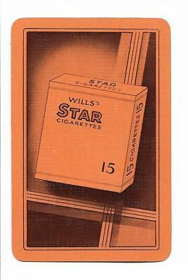 Wills *star* Cigarettes Ad. X 1 Only Single Vintage Playingswapcard