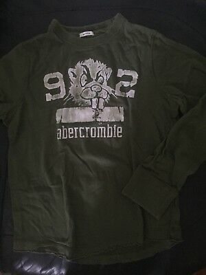 Abercrombie fitch Long Sleeve Boys XL Muscle, Dark Sage Green