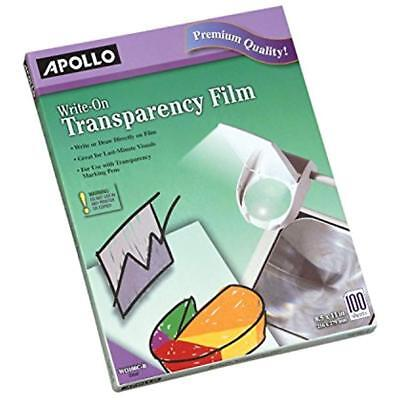 Write-On Office & School Supplies Transparency Film, 8.5 X 11 Inches, Clear, 100