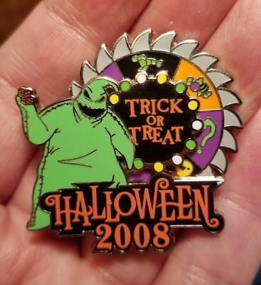 OOGIE BOOGIE Trick or Treat 2008 LE Disney Pin Halloween NBC  Buzz Saw Spins