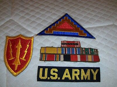 Vintage Us Military Patches Lot Of 7 Guns Stars Symbols Large Army