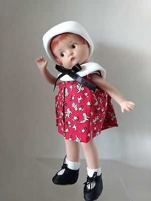 Effanbee - Patsy Doll in Red Dress and White Hat - 9""