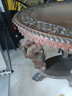 Very Rare Old Indonesian Carved Side Table