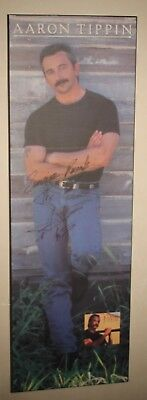 Aaron Tippin Large Display Poster Autographed Sunrise Records Rare Country Music