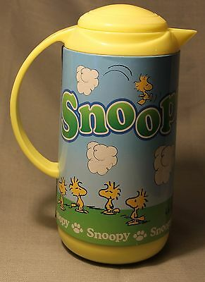 Vintage Snoopy & Charlie Brown Large Thermos Coffee Pitcher Jug +