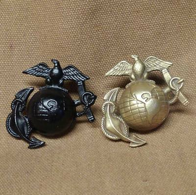 WWI Reproduction USMC Eagle, Globe and Anchor Hat Insignia Variation number 3