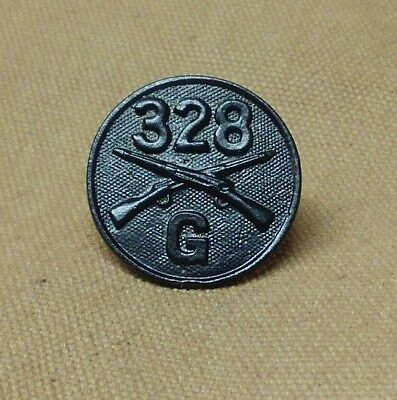 WWI CO.G 328th Infantry, Sergeant York's Unit Collar Disk 82nd(All American)Div.