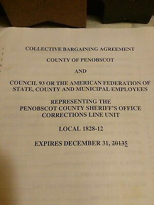Collective Bargaining Agrement County Of Penobscot  County Corrections Unit (ME)